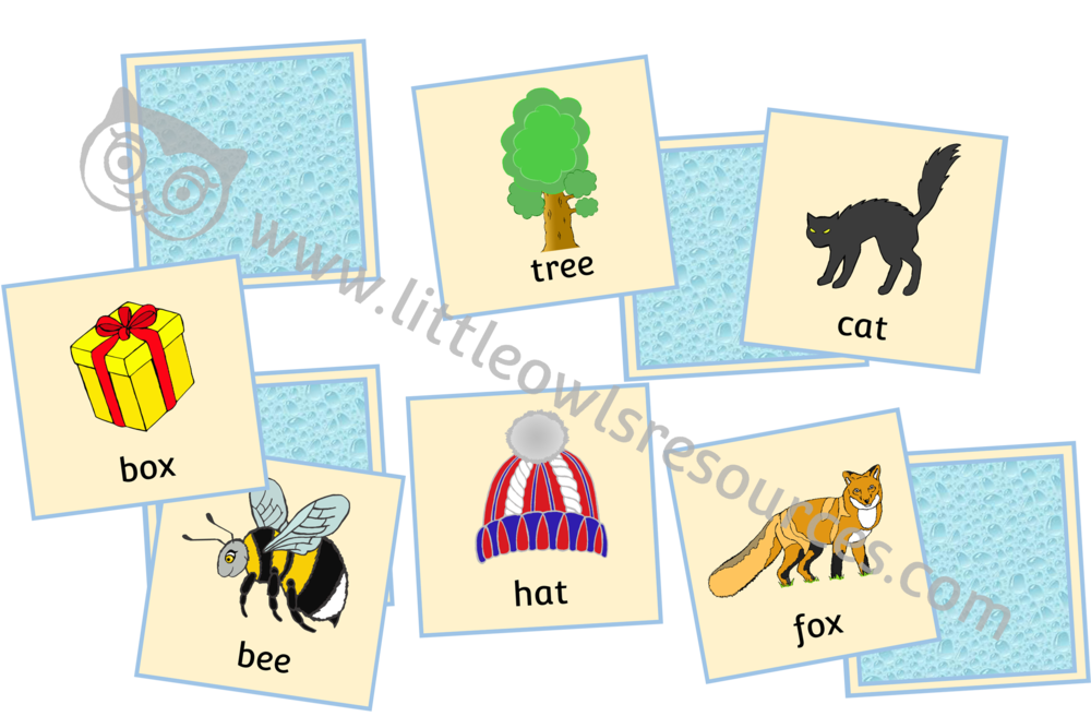 Rhyme Matching Cards Game - Pictures and Words