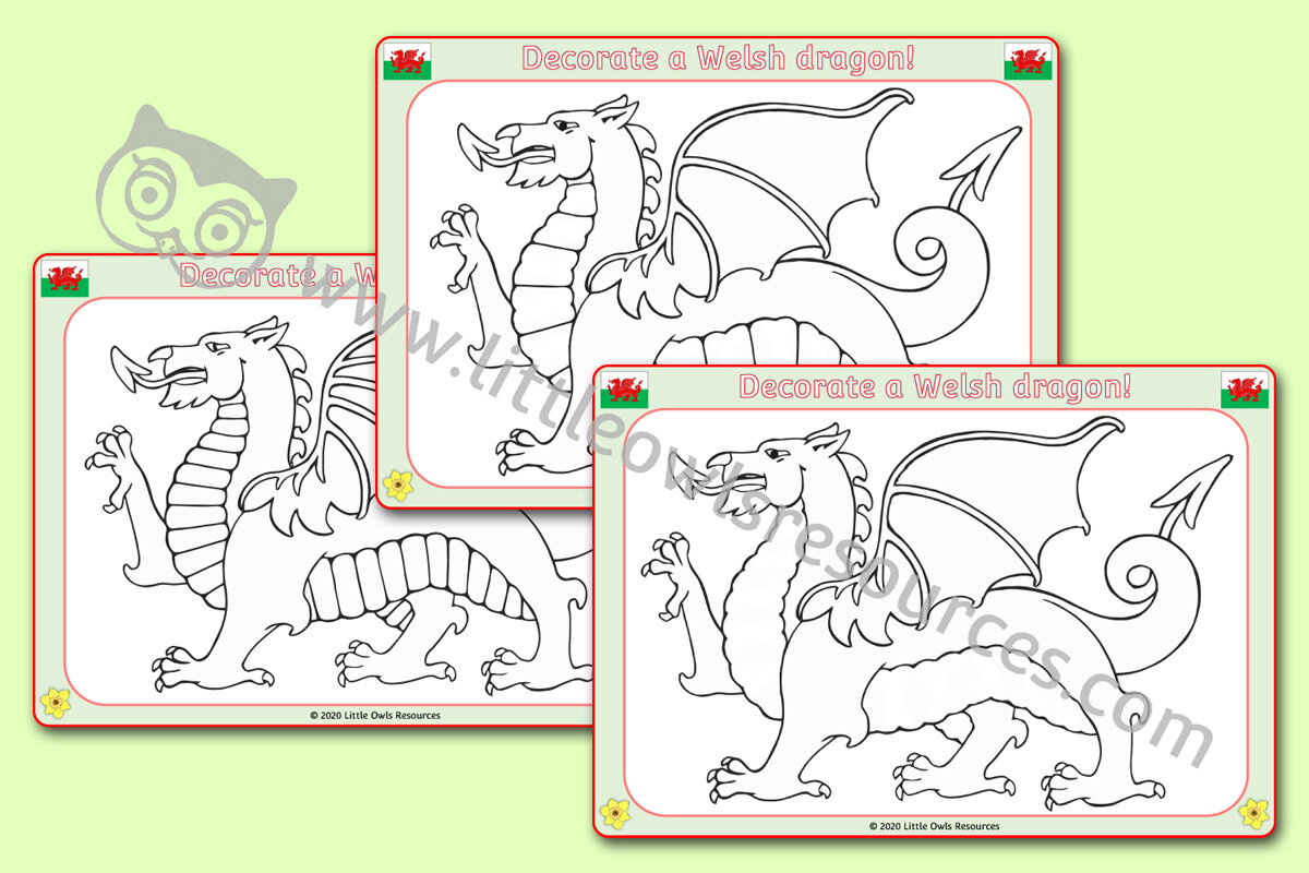 Free Decorate Welsh Dragon Printable Early Years Ey Eyfs