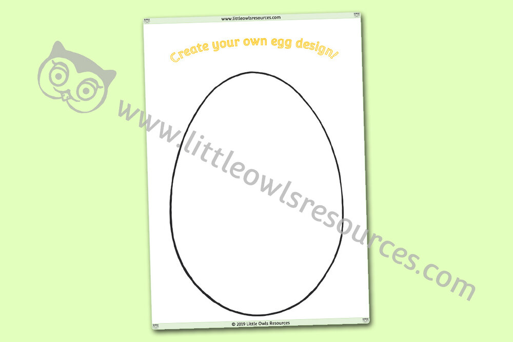 Design Your Own Egg Activity Template
