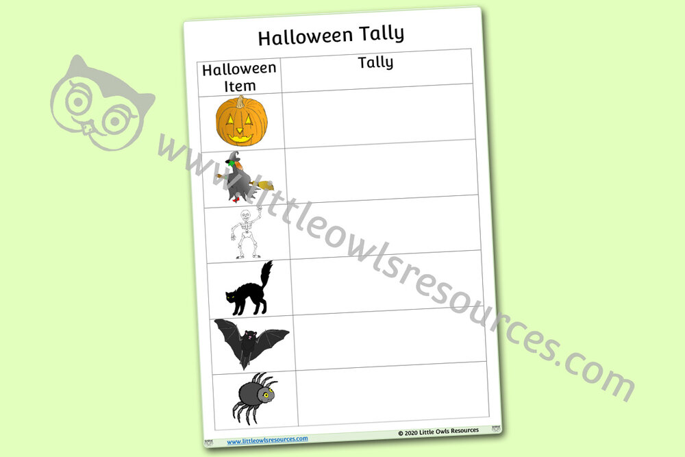 Halloween Tally Chart/Check List