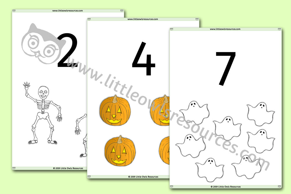 1-20 Halloween Counting