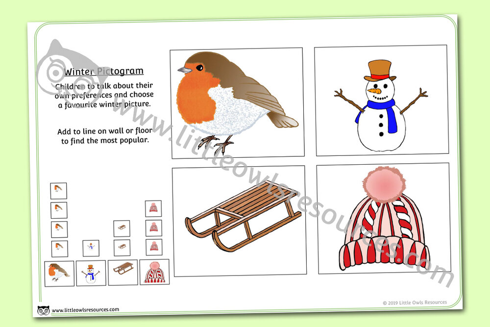 Winter Pictogram Chart Activity/Display