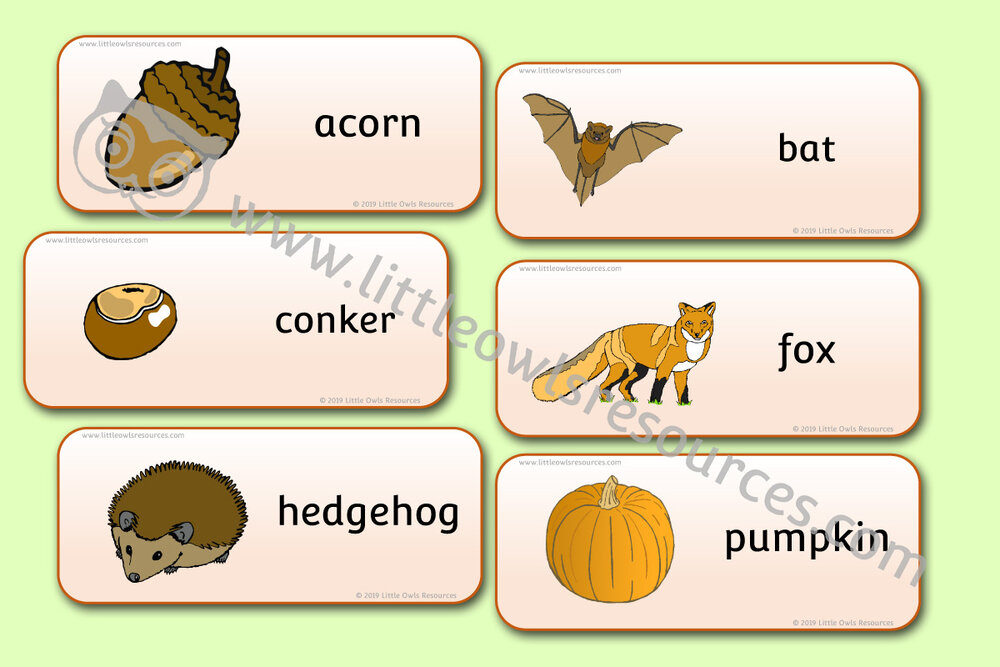 Autumn Word Cards