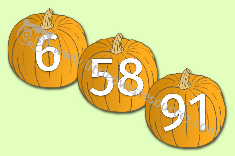 Pumpkin Numbers 0-100