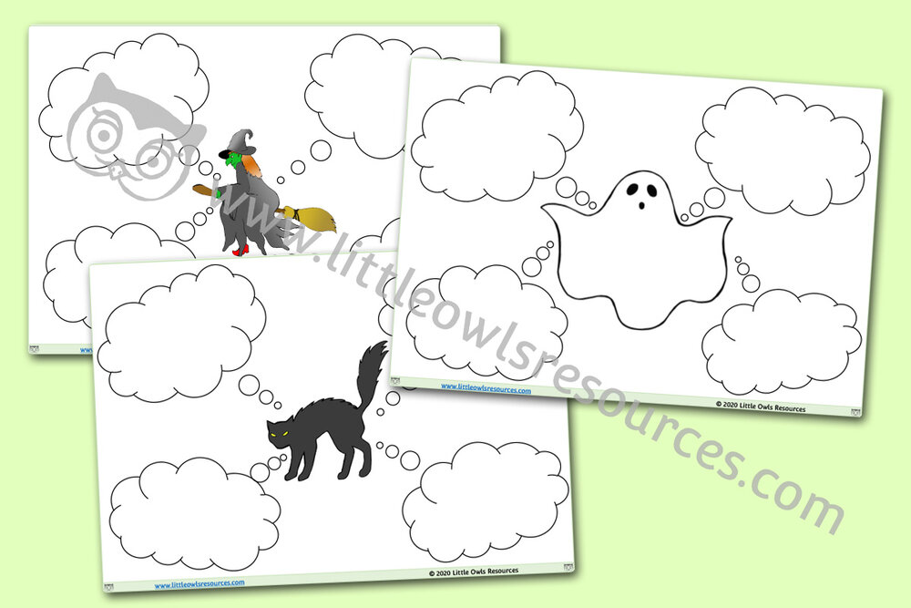 Halloween Description Sheets/Templates