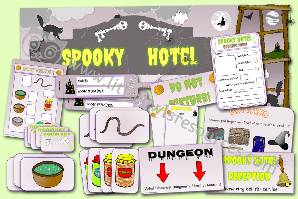 Spooky Halloween Hotel Role-Play Pack