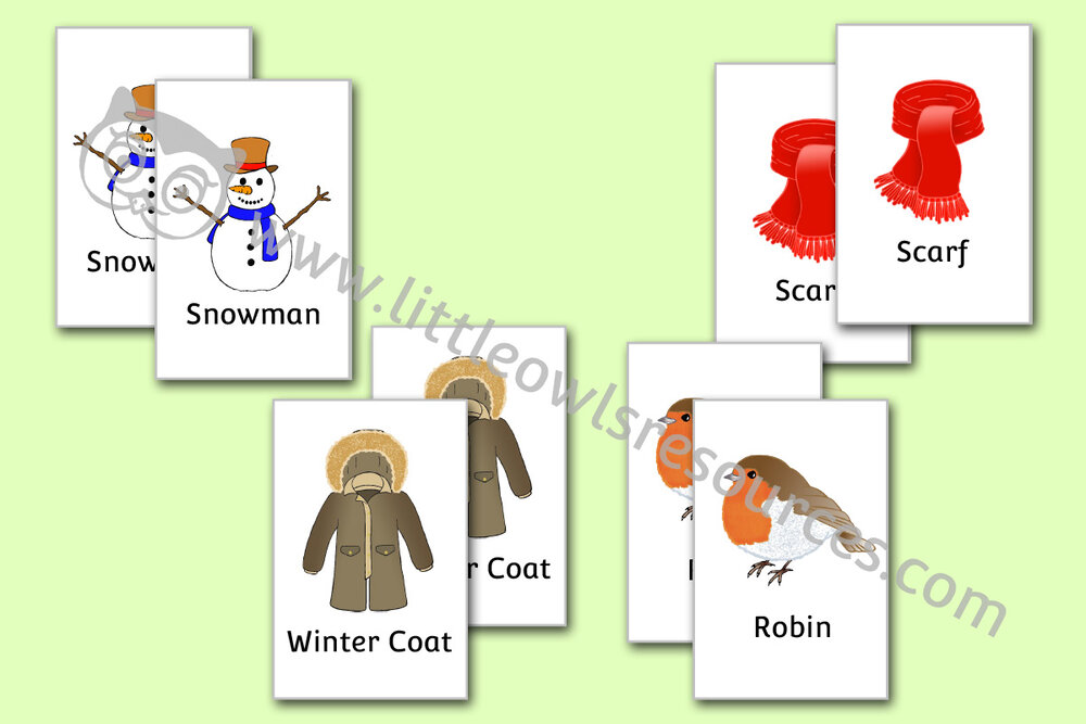 Winter Picture Snap Cards/Game