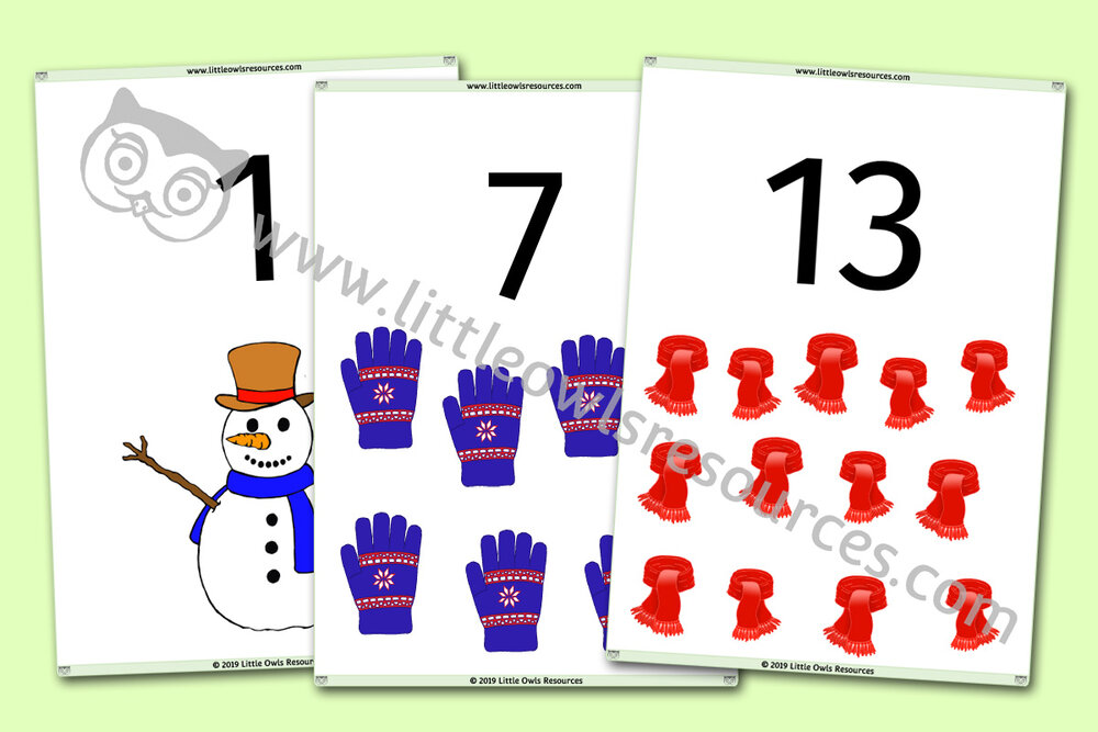 Winter Counting 0-20 Display/Posters/Cards