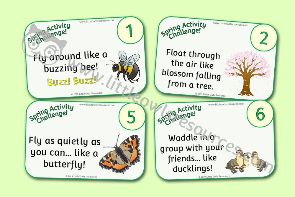Spring Activity Challenge cards