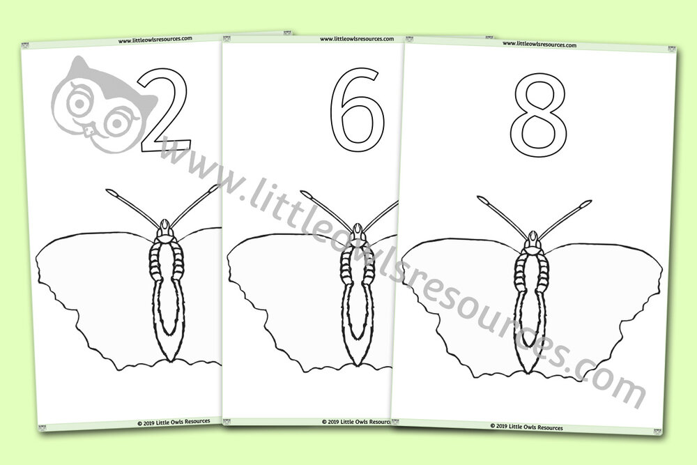 Butterfly Number Sheets