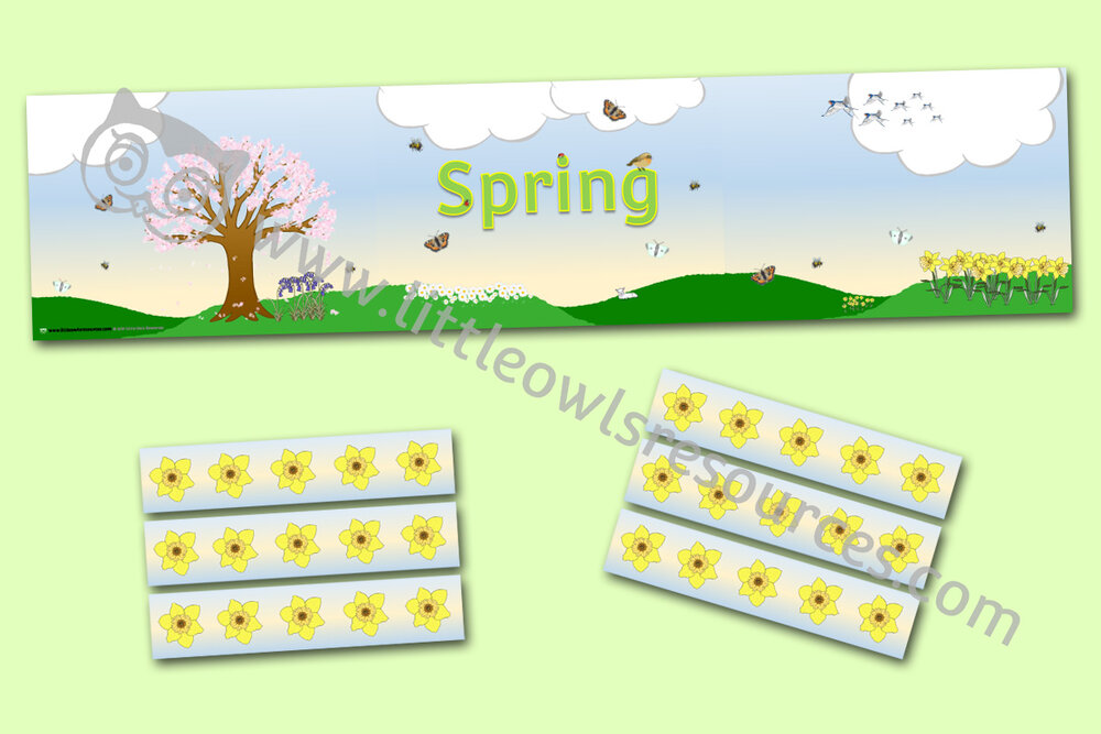 Spring Display Banner and Borders