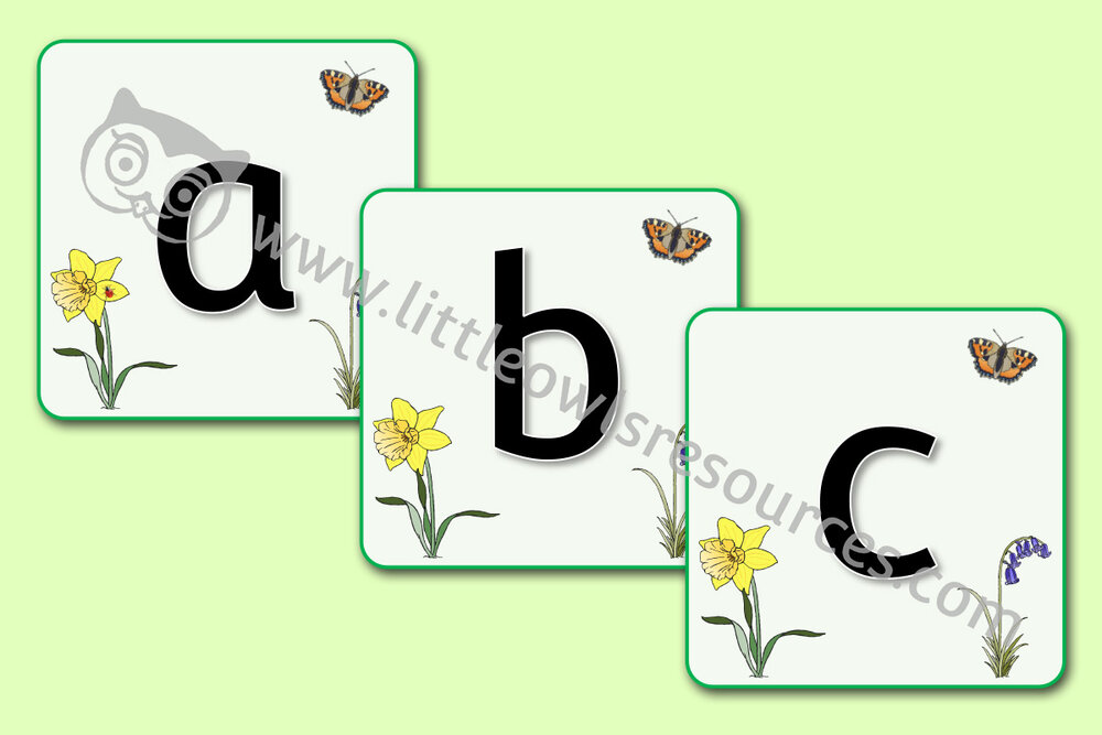 Spring Alphabet Display/Flashcards