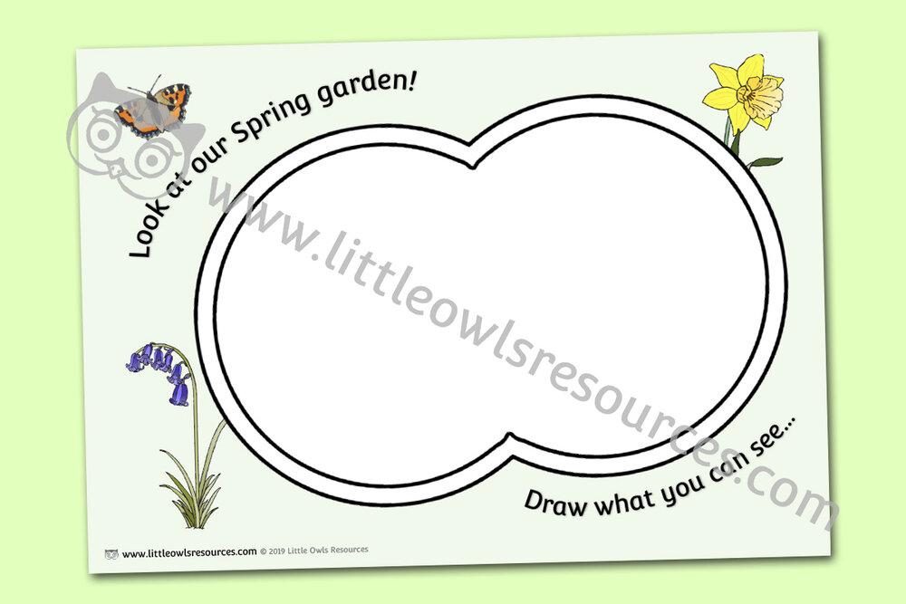 Spring Garden Drawing