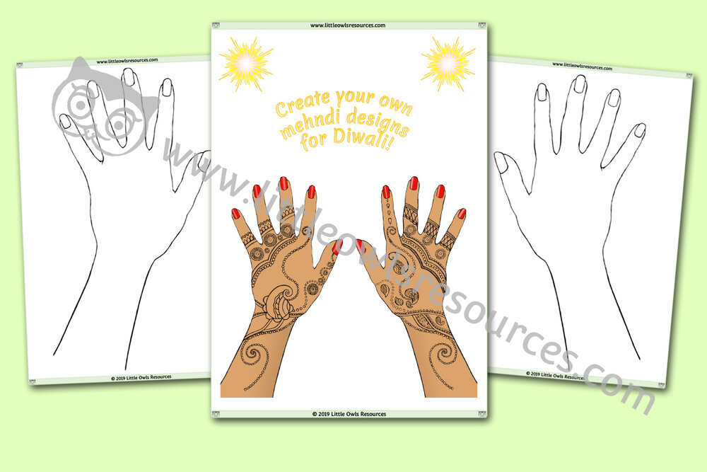 Create your own Mehndi designs activity
