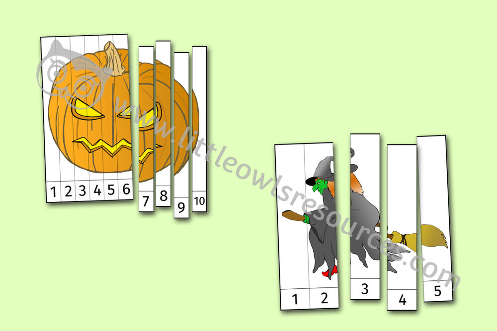 Halloween Number Slice Pictures