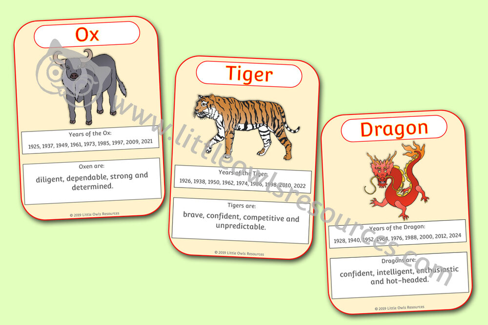 Chinese New Year - Animal Zodiac Cards