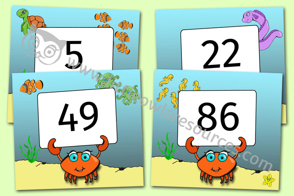 Sea Animal Numbers