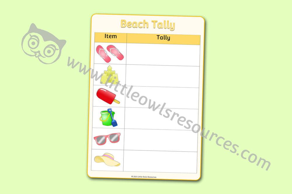 Beach Tally Chart