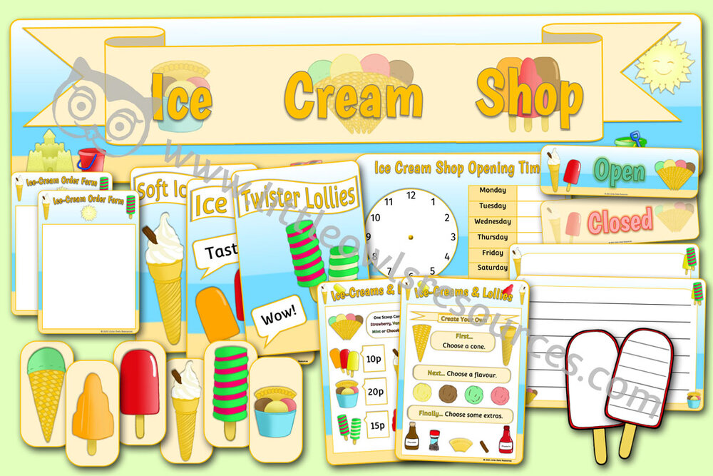 Ice Cream Shop Role Play Pack