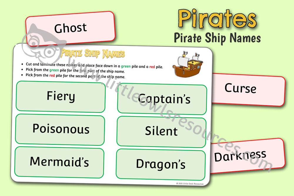 Pirate Ship Names Game