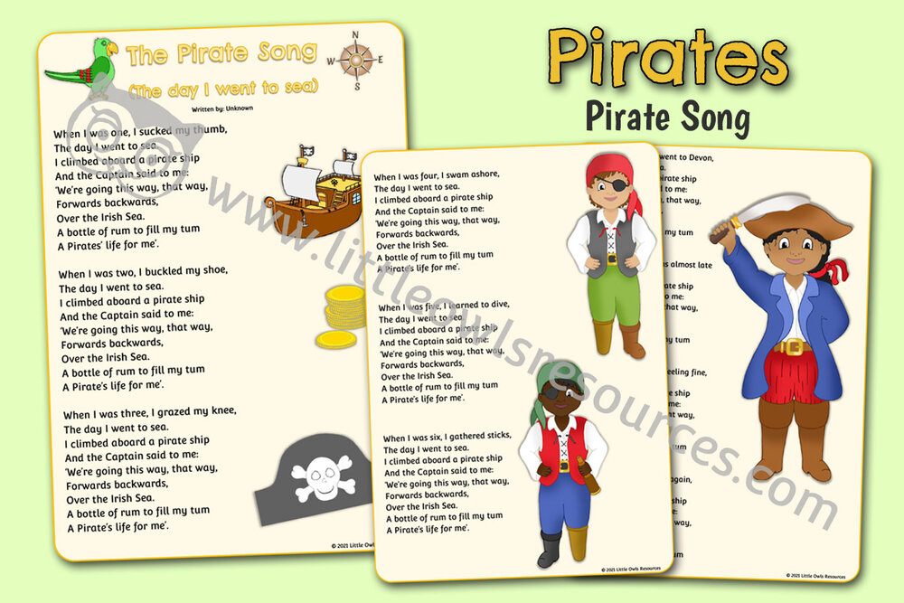 The Pirate Song Words