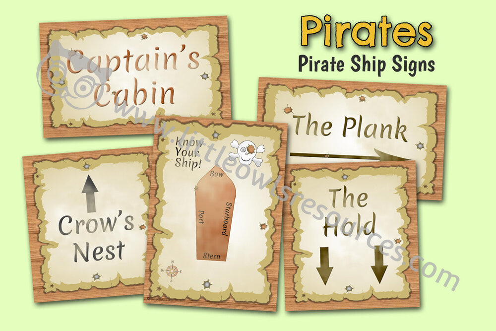 Pirate Ship Signs
