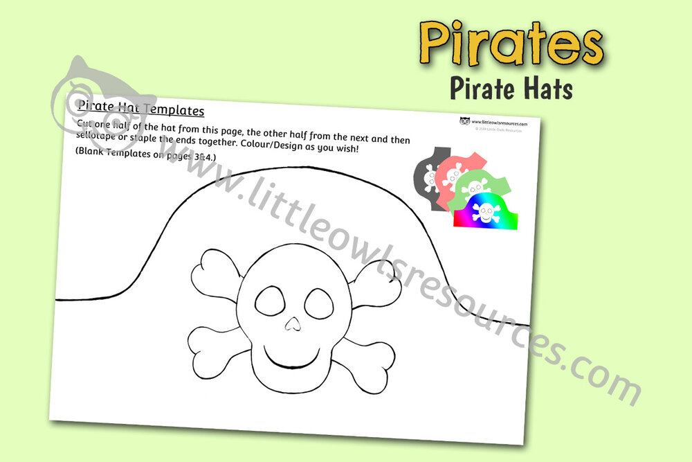 Pirate Hat Template