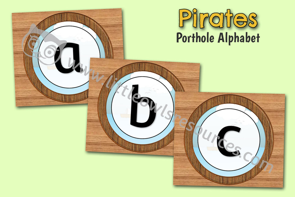Pirate Porthole Alphabet
