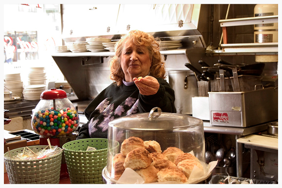 Jean Joseph has waitressed for over 60 years - Al's Good Food. San Francisco, CA