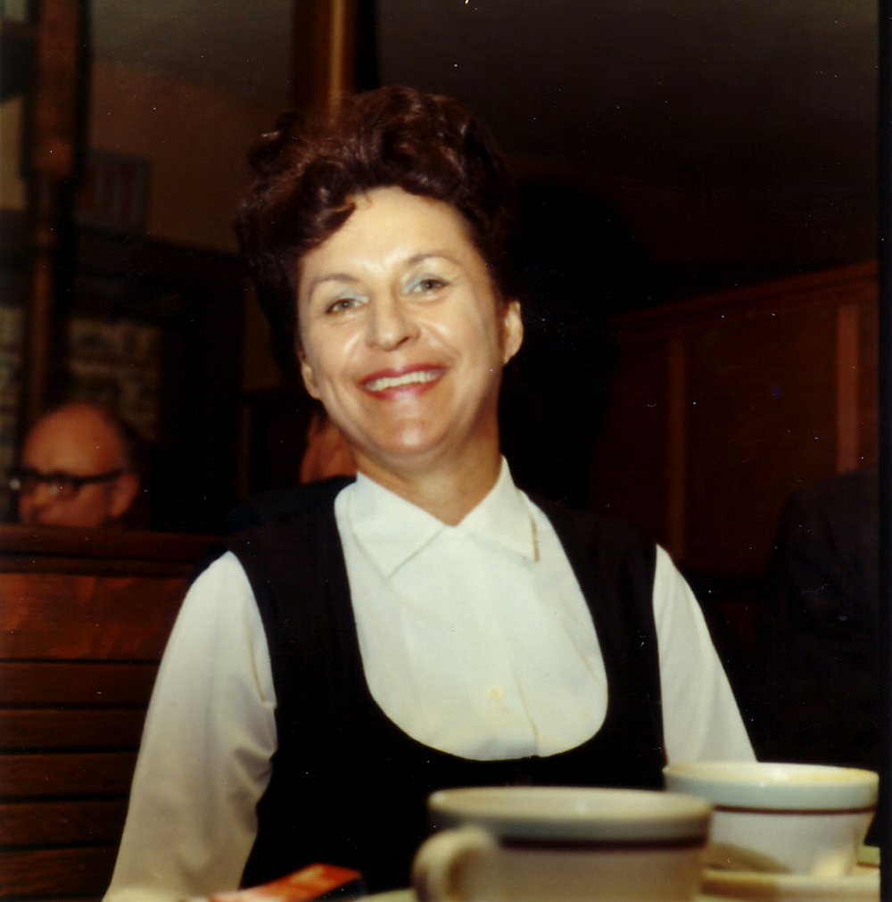 Esther at Sharkey's in 1969. Gardnerville, Nevada