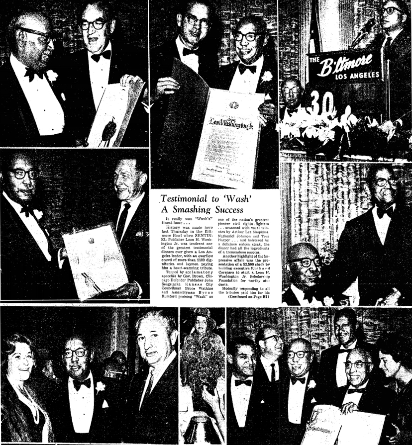 Leon G. Washington Jr. Testimonial Dinner at the Biltmore