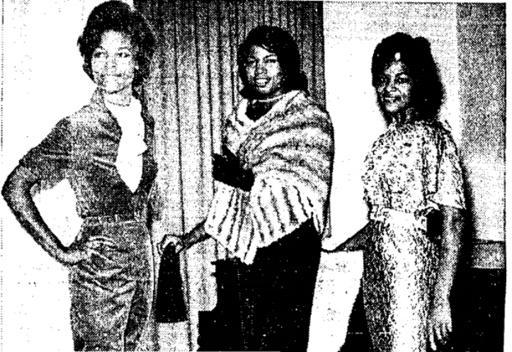 Left to right: Arie Wright, Clara Jackson and Miss Wright again.