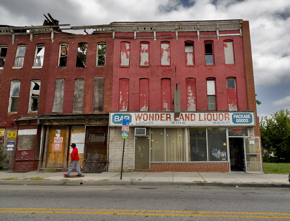 Wonderland Liquor Store - Baltimore, Maryland.  Photograph by Candacy Taylor, 2016