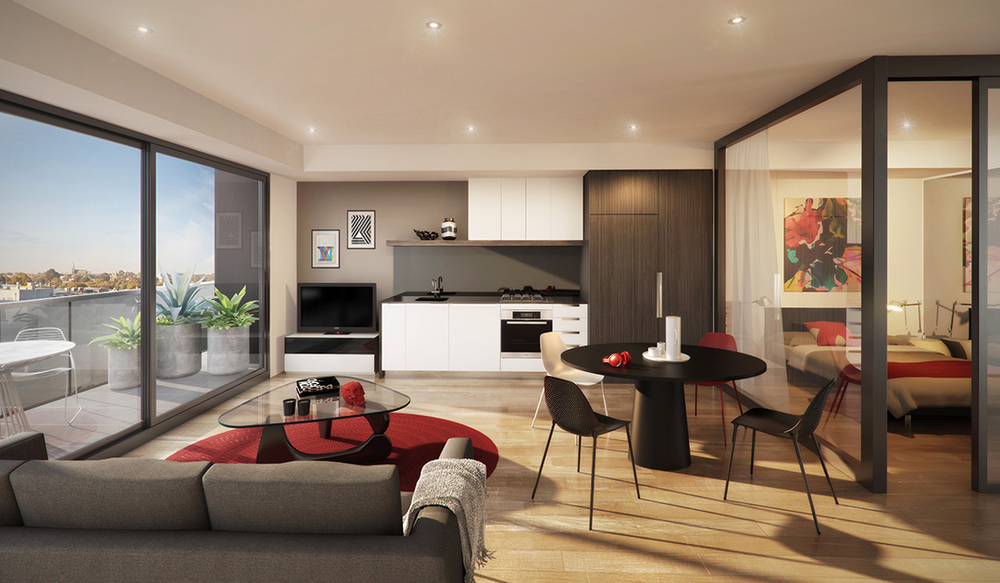 Interior at Prahran Apartments