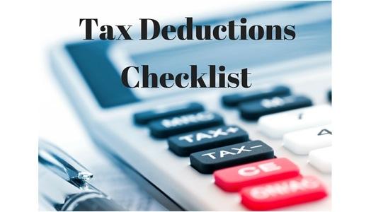 Free Tax Deductions Checklist