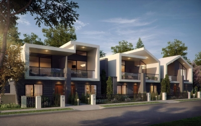 Exterior of Greensborough Townhouses