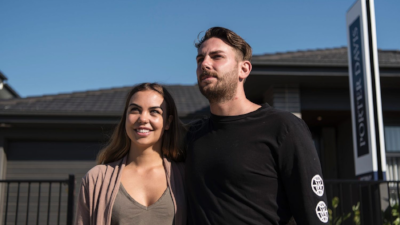 First-home buyers Polly Pleban and Tom Quick planned to take advantage of new stamp duty savings. Photo: Josh Robenstone