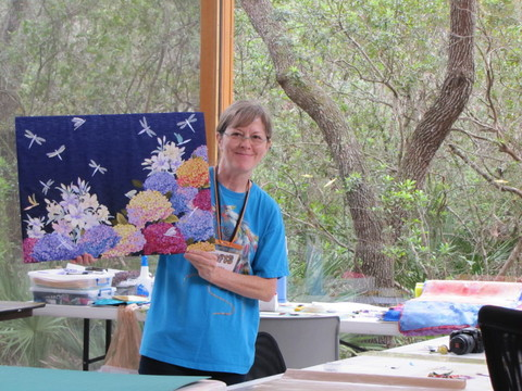 Debbi shows here fused work