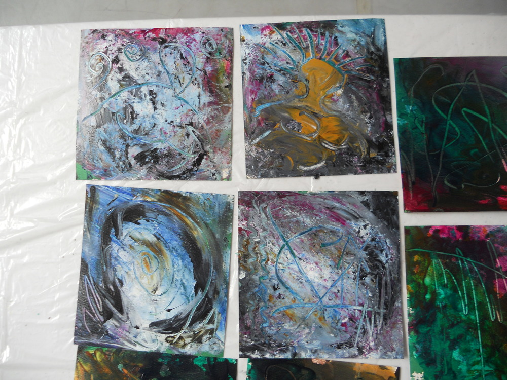 McBride's finger paintings (18 of them!)