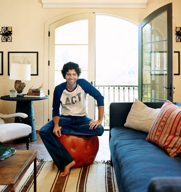 Adrian Grenier's home via  Domino