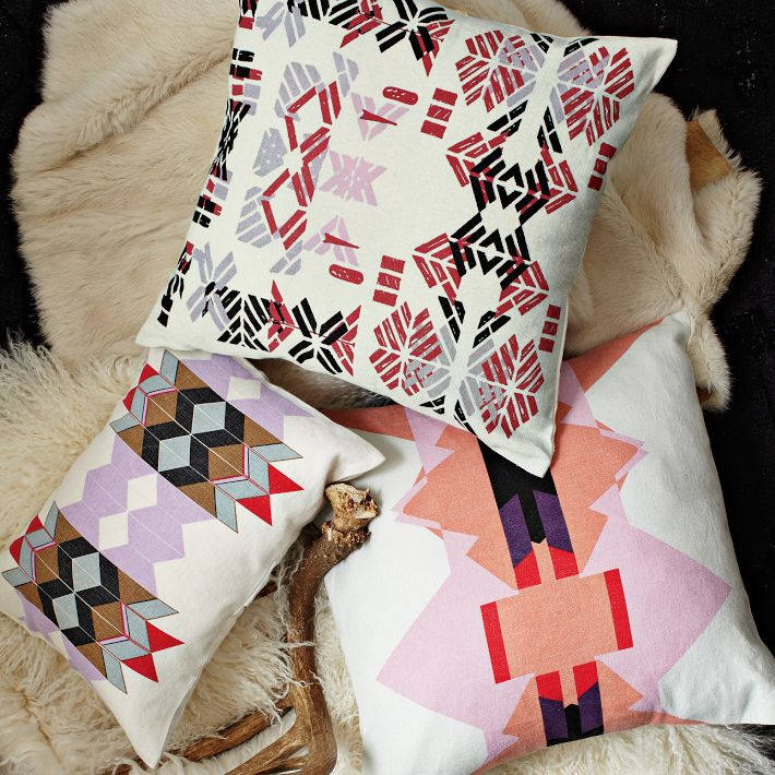 Alyson Fox pillows for West Elm