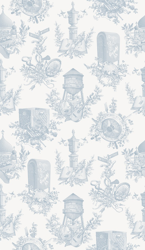 Wythe Toile by Flavor Paper