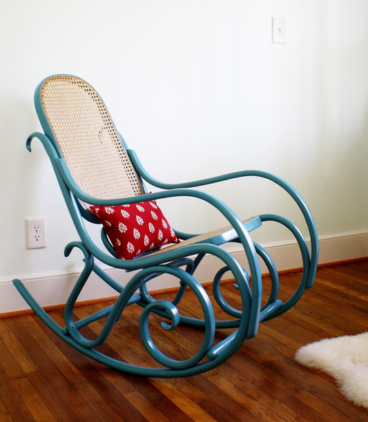 Custom painted Thonet vintage rocker, price varies