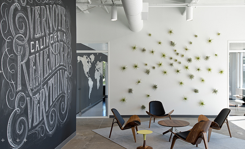 Evernote office, design by O+A Design