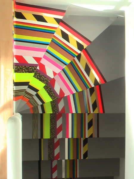 Tape covered stair by Pascal Anson