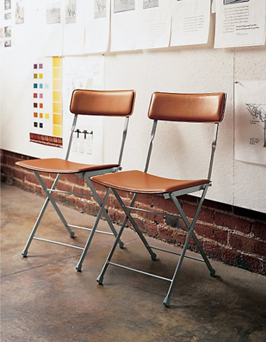 Lina leather folding chair $150