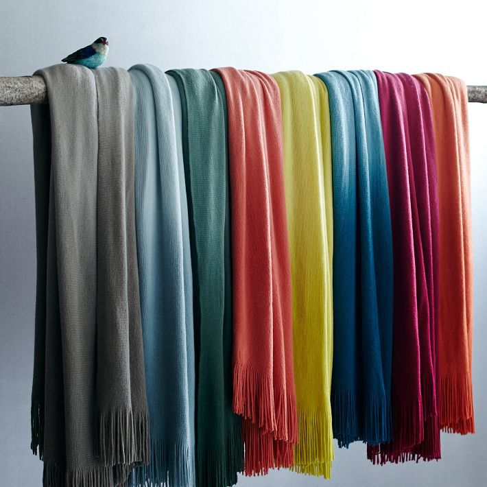 West Elm Ombre Throw $49
