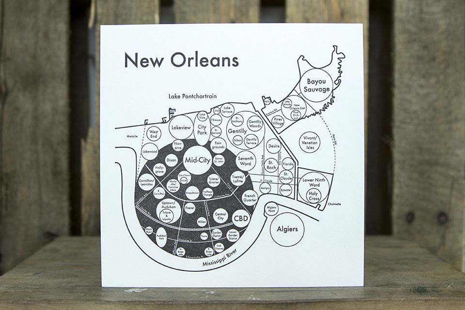 New Orleans map by Archie's Press $23