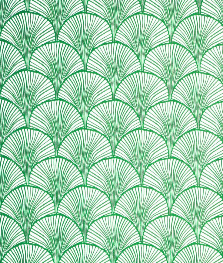 Nippon wallpaper in emerald by Mimou