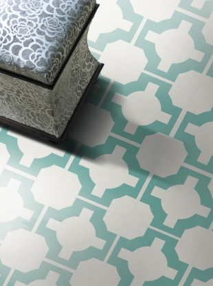 it comes in four colorways turquoise stone sage and charcoal like all vinyl flooring these tiles are extremely durable and easy to maintain - Turquoise Floor Tile